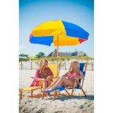 Parapluies de Frankford parapluie de plage acrylique rayé en acier de pente commerciale de 7.5 pi de diamètre