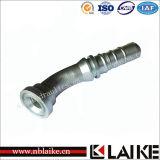 (87643) Embout de durites hydraulique de bride à haute pression de forge