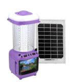 Hot Solar DC TV, lanterna solar, com FM, cartão TF