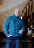 L'alta qualità di lusso dell'OEM lavora a mano il pullover del cardigan del maglione degli uomini