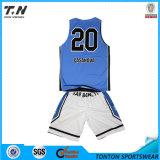 2015 форм баскетбола горячей сублимации сбывания изготовленный на заказ реверзибельных