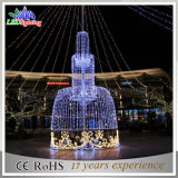 Garten-Dekoration-Brunnen-Licht des Edelstahl-Weihnachtenim freien LED
