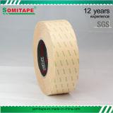 El doble adhesivo fuerte del tejido echó a un lado cinta para la muestra y la carta