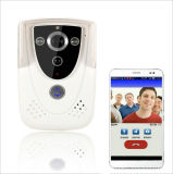 Téléphone visuel intelligent de porte de Bell de porte de WiFi de vision nocturne de megapixel de l'appareil-photo 3.0 de visualisateur de Peephole de Digitals de sonnette sans fil à la maison imperméable à l'eau d'intercom