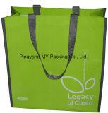 Novidade que anuncia o saco tecido PP colorido do Tote da compra do supermercado da película