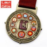 L'abitudine antica popolare 3D del produttore imprime il tipo medaglia rara incisa della stella del metallo della concorrenza di sport di marchio per la vendita del regalo