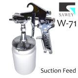 Sawey W-71 흡입 공급 수동 손 페인트 분무 노즐 전자총