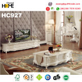 旧式な様式の木製の家具の大理石のコーヒーテーブルの茶表(HC999)
