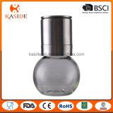Amoladora de pimienta de cerámica de la sal de la botella de cristal con el casquillo inoxidable