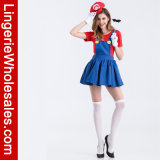 섹시한 여자의 Mario 배관공 Halloween Cosplay 복장