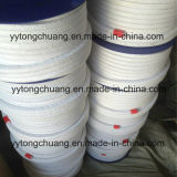 Cotton branco Fiber Gland Packing com PTFE Impregnated