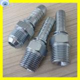 L'acier inoxydable a tressé l'ajustage de précision mâle convenable de presse de connecteur de tuyau flexible