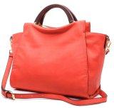 Sacos de couro da cor diferente em linha de couro das bolsas do couro da forma das bolsas das mulheres