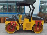 Rouleau de route vibratoire à entraînement hydraulique 3ton