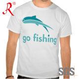 T-shirt imprimé imprimé à manches courtes pour femme à pêche en Chine (QF-2201)