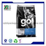 Poche scellée par quarte de bonne qualité d'aliments pour chiens avec le gousset inférieur