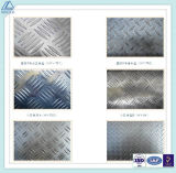 Stucco Embossed Checkered Pattern Aluminium / Aluminium Plaque pour Trafic Outils / Bâtiments
