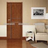 Puerta laminada PVC del material de OEM/ODM WPC para el dormitorio del cuarto de baño (KM-11)