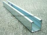 Canal de acero ranurado galvanizado del puntal C
