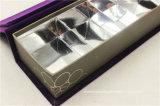 青いスエードのボール紙のコアチョコレート包装ボックス