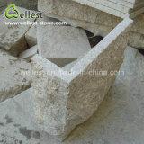 Gelbe rostige Pilz-Steinwand-Umhüllung des Granit-G682 für Außenwand