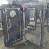Алюминий подгонянный морским пехотинцом быстро действуя Weathertight/стальная дверь с круглым окном
