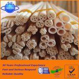 Tubo a temperatura elevata 85 dell'allumina tubo di ceramica dell'allumina di 95 97% per la fornace 1800c