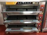 Four de paquet de gaz de 9 plateaux pour le pain de traitement au four et le gâteau (WQL-Y-3B)