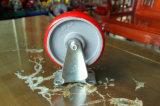 Echador fijo con base de arrabio de la rueda de la PU