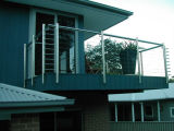 Stainless Steel Rope를 가진 자유로운 Railing Designs Balcony Railing