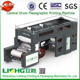 4 Farben-zentrale Trommel-flexographische Drucken-Maschine