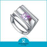 Персонализированное кольцо стерлингового серебра градации 925 для годовщины (R-0409)