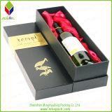 Коробка вина упаковки подарка бумаги прямоугольника DIY с шелком вставки