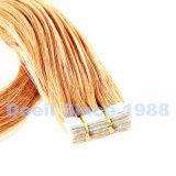 Выдвижение ленты человеческих волос в светлый цвет