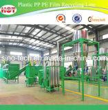 Película plástica do PE dos PP que recicl a linha máquina de lavar/linha da peletização