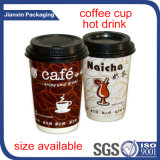 Copo de café bebendo quente com tampa