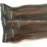 Extensão brasileira do cabelo humano de Remy da extensão do cabelo do grampo