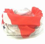OEM 생성은 로고에 의하여 인쇄된 선전용 폴리에스테 탄력 있는 관 담황색 밴대나 Headwear를 주문을 받아서 만들었다