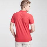 Le coton 100% frais en bonne santé de dri de coton de modèle personnalisent les chemises de polo rouges des hommes