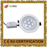 Teto energy-saving AC85-265V 7W da lâmpada da luz de painel da iluminação do diodo emissor de luz