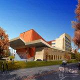 Перевод зодчества конструкции 3D здания искусствоа университета внешнее