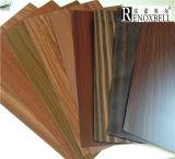 Piel de aluminio con el grano de madera para los paneles de aluminio del panal