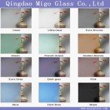 Desobstruído/coloriu vidro de vidro/geado gravado ácido/vidro opaco/vidro translúcido