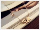 Collana Chain di cristallo dell'elefante della famiglia di disegno sveglio dello Stroll