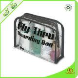 Sac cosmétique de produit de beauté de course de vinyle d'espace libre de poche de PVC de plastique transparent