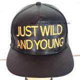 Casquillos urbanos bordados alta calidad de cuero del camionero del sombrero de la manera del sombrero del casquillo del deporte