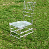 Ghiaccio Clear Banquet Resin Tiffany Chair per Weddings