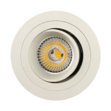 Plafonnier enfoncé par inclinaison ronde de l'aluminium GU10 MR16 LED de tour (LT2304B)