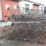 Galvanized Steel Guyed Line Telecommunication Tower Made in China