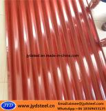 Color acanalado G550 cubierto galvanizado cubriendo la hoja